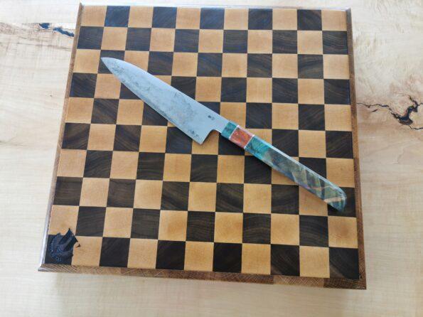 Skärbräda schack stor